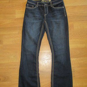 NWOT Seven 7 Jeans Boot Cut Dark Wash Embroided 12
